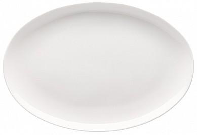 Krožnik ovalen brez roba 43 cm